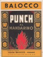 Punch Al Mandarino - Liquori Balocco, Fossano - Etiketten