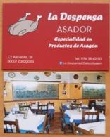 LA DESPENSA ASADOR + ARROCERÍA MESÓN DE TOMÁS. - Tarjetas De Visita