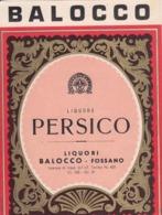 Liquore Persico - Liquori Balocco, Fossano - Etiketten