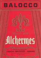 Alchermes - Liquori Balocco, Fossano - Etiketten