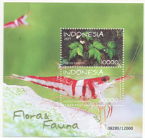 INDONESIA 2019-12 FLORA FAUNA PRAWN BEGONIA FLOWER SS SOUVENIR SHEET STAMPS MNH - Indonesia