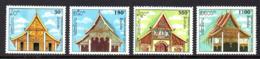 Laos 1130/33 Pagodes Boudhistes - Buddhismus