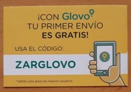 TARJETA DE VISITA GLOVO. COMIDA A DOMICILIO. - Tarjetas De Visita
