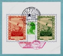 Vignette - Bloc Feuillet 1983 - Aero Club Jean Maridor - Societe Philatelique Havraise - Meeting National - - Erinnophilie