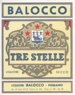 Tre Stelle Liquore Secco - Liquori Balocco, Fossano - Etiketten