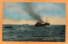 Havana Last Plunge Of Maine Cuba 1912 Postcard - Cuba