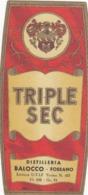 Triple Sec - Distilleria Balocco, Fossano - Etiketten