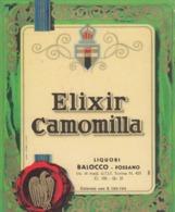 Elixir Camomilla - Liquori Balocco, Fossano - Etiketten