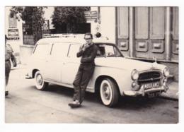 "AUTOMOBILE  - PEUGEOT  "" 403 AMBULANCE ""  - AMBULANZA - CAR  - FOTO ORIGINALE 1960 - Automobili"