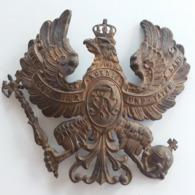 Authentique Plaque De Casque à Pointe Allemagne 1870 - Hoeden
