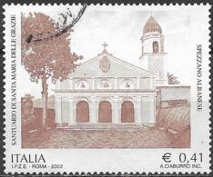 ITALY 2002 Santa Maria Delle Grazie Sanctuary - 41c - Brown FU - 6. 1946-.. Repubblica