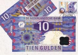 D38506 CARTE MAXIMUM CARD FD 2018 NETHERLANDS - DUTCH BANK NOTES 10 GUILDERS - AMSTERDAM BANK CP ORIGINAL - Münzen
