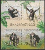 Burundi  2012 OCBn° Bloc 402 *** MNH Cote 15 Euro Faune Chimpansees Chimpanzés Monkeys - 2010-..: Neufs
