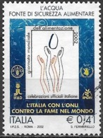 ITALY 2002 World Food Day - 41c Emblem FU - 6. 1946-.. República