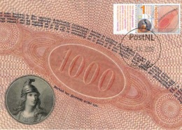 D38507 CARTE MAXIMUM CARD FD 2018 NETHERLANDS - DUTCH BANKNOTE 1859 - 1000 GUILDERS CP ORIGINAL - Münzen