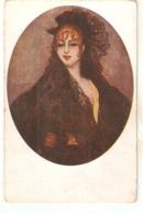 """Carlos Vazquez.Lady Luisa De Vigne"" Nice Spanish Postcard 1930s - Mujeres"