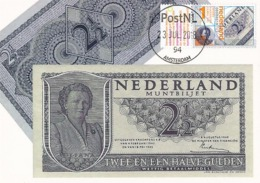 D38508 CARTE MAXIMUM CARD FD 2018 NETHERLANDS - DUTCH BANKNOTE QUEEN JULIANA CP ORIGINAL - Monnaies
