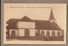 CPA 56 - ILE DE GROIX - PORT-TUDY - Eglise Du Bourg Et Le Monument Aux Morts - TB PLAN EDIFICE + ANIMATION - Sonstige Gemeinden