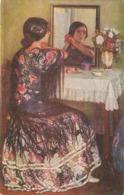 """Juan Cardona.Lady. Before Th Psrty"" Nice Spanish Postcard 1930s - Mujeres"