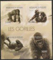 Burundi  2012 OCBn° Bloc 480 ND Ongetand *** MNH Cote 36 € Faune Gorilles Gorilla's - 2010-..: Neufs