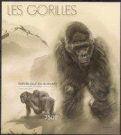 Burundi  2012 OCBn° Bloc 481 ND Ongetand *** MNH Cote 35 € Faune Gorilles Gorilla's - 2010-..: Neufs