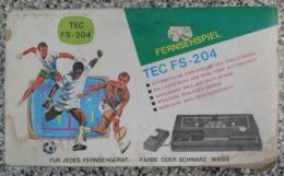 Tec FS 204  Fernseh Spielgerät  Game Console Classic  Retro - Consolas De Juegos