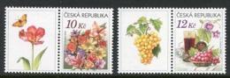 CZECH REPUBLIC 2006 Flowers Greetings Stamps MNH / **.  Michel 457, 462 - Tchéquie