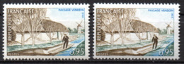 Col12  France Variété Barque Verte Au Lieu De Bistre N° 1439 Neuf XX MNH - Variétés: 1960-69 Neufs