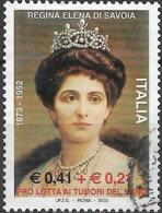 ITALY 2002 50th Death Anniversary Of Queen Elena Of Savoy - 41c.+21c - Queen Elena FU - 6. 1946-.. Repubblica