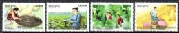 Laos 1828/31 Ver à Soie, Mûrier, Agriculture, Vegetal - Mariposas