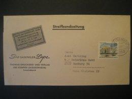 Deutschland Westberlin 1969- Streifbandzeitung Gelaufen Von Kempen Nach Hamburg, Frankiert Berlin Mi. 255 - Briefe U. Dokumente