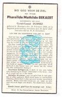DP Pharailde Math. Bekaert ° Beselare 1885 † Izegem 1937 X Cyriel C. Durnez - Imágenes Religiosas