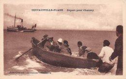 50 . N°106091 . Coutainville Plage .depart Pour Chausey .bateau  . - France