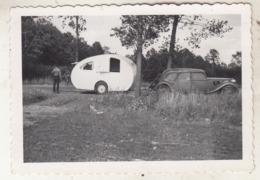 Old Timer - Roulotte - Fontainebleau - 1950 - Photo 6 X 8.5 Cm - Automobile