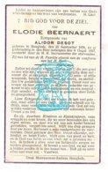 DP Elodie Beernaert ° Hooglede 1876 † 1937 X Alidor Desot - Imágenes Religiosas