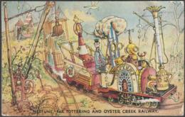Neptune, Far Tottering & Oystercreek Railway, Festival Of Britain, 1951 - Valentine's Postcard - Exhibitions