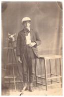 JEUNE HOMME STYLE ROMANTIQUE  1922   CARTE PHOTO  CONSTANTA ROUMANIE - Anonyme Personen