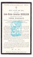 DP Leon Victor C. Beddeleem ° Ieper 1884 † 1929 X Irma Durnez - Imágenes Religiosas