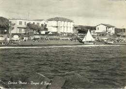 """Cecina Mare Fraz. Di Cecina (Livorno) Bagni """"il Faro"""" Visti Dal Mare, """"il Faro"""" Baths Seen From The Sea - Livorno"""