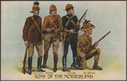 Sons Of The Motherland, Australia, Britain, Canada, South Africa, C.1915 - Valentine's Postcard - Patriotic