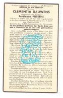 DP Clementia Bauwens ° Eeklo 1858 † Balgerhoeke 1938 X Ferd. Piessens - Imágenes Religiosas