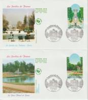 France FDC 2004 Jardins De France 3673-74 - FDC