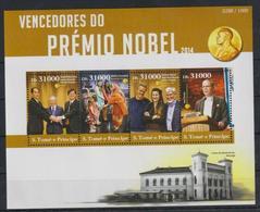 V704. Sao Tome & Principe - MNH - 2015 - Famous People - Nobel Prize - Celebridades