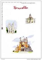 """"""" BRUXELLES """" Sur Document Philatélique Officiel De FRANCE De 2007 De 4 Pages N° YT BF 111. DPO - Belgium"""