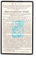DP Marie Josephine Baus ° Ieper 1855 † Brugge 1922 - Imágenes Religiosas