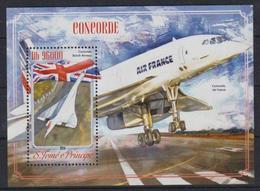 T704. Sao Tome & Principe - MNH - 2014 - Transport - Airplanes - Bl. - Verkehr & Transport