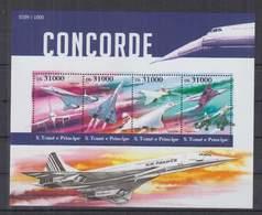 R705. S.Tome E Principe - MNH - 2015 - Transport - Aviation - Concorde - Flugzeuge