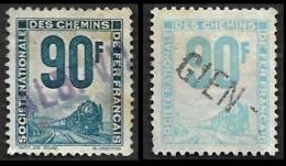 PETITS COLIS  1944-47 - YT 20 (cote 29e) Et YT 21 (cote 2.50e) - Oblitérés - Colis Postaux