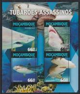 N309. Mozambique - MNH - 2016 - Nature - Marine Life - Sharks - Plants