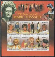 K704. Mozambique - MNH - 2011 - Famous People - Marie Tussaud - Art - Celebridades